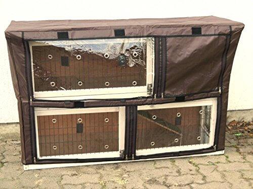 nanook Schutzhülle Hasenstall Kaninchenstall für Serie Moritz XL, wetterfest, 130 x 80 x 44 cm