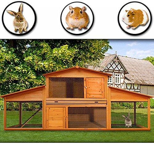 Hasenstall Kaninchenstall Hasenkäfig Meerschwein Käfig Freilauf Holz Stall – ein tolles Zuhause für Ihr Haustier