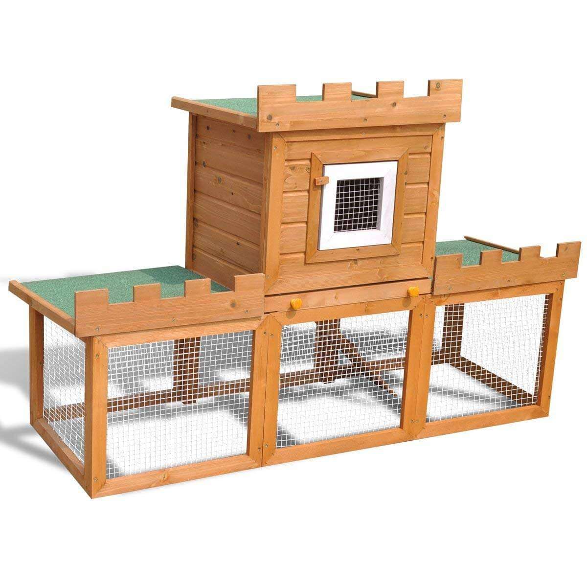 vidaXL Kaninchenstall Hasenstall Käfig Kaninchenkäfig Hamsterstall Hasenschloss